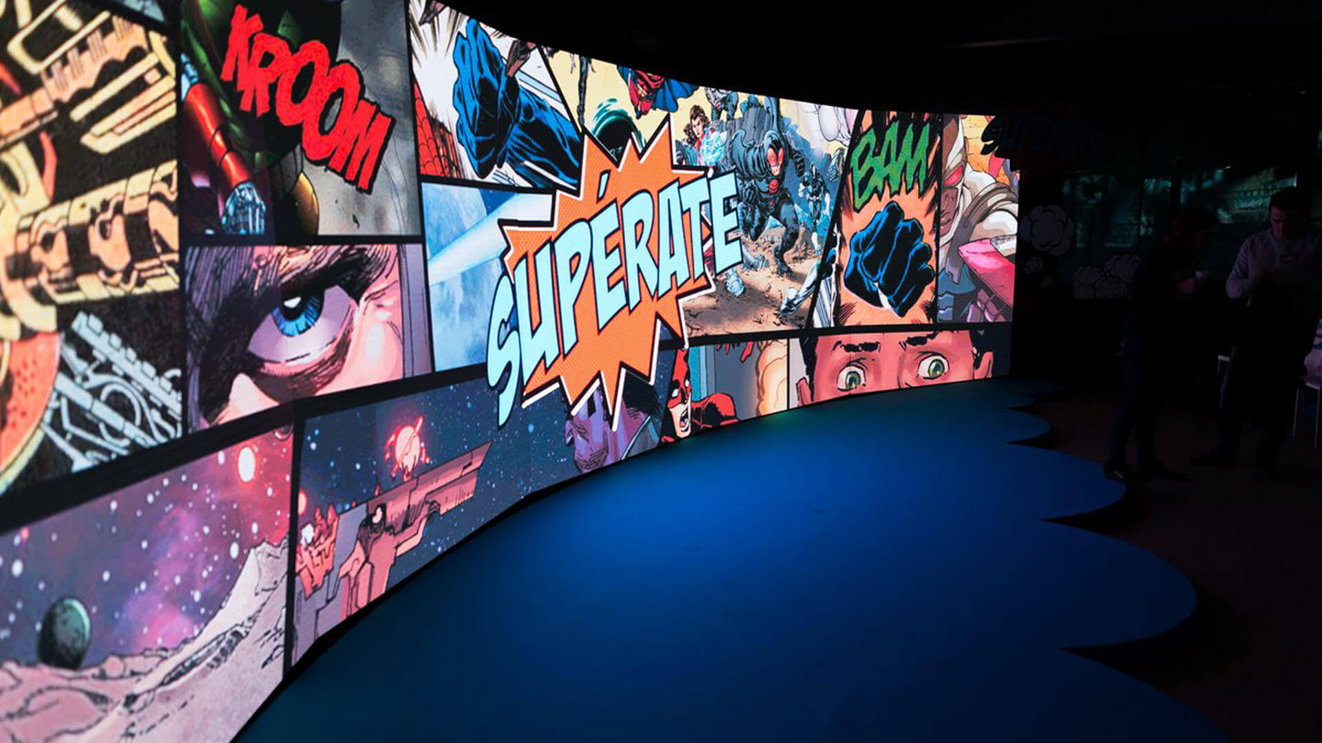 Audiovisual rental for an exhibition