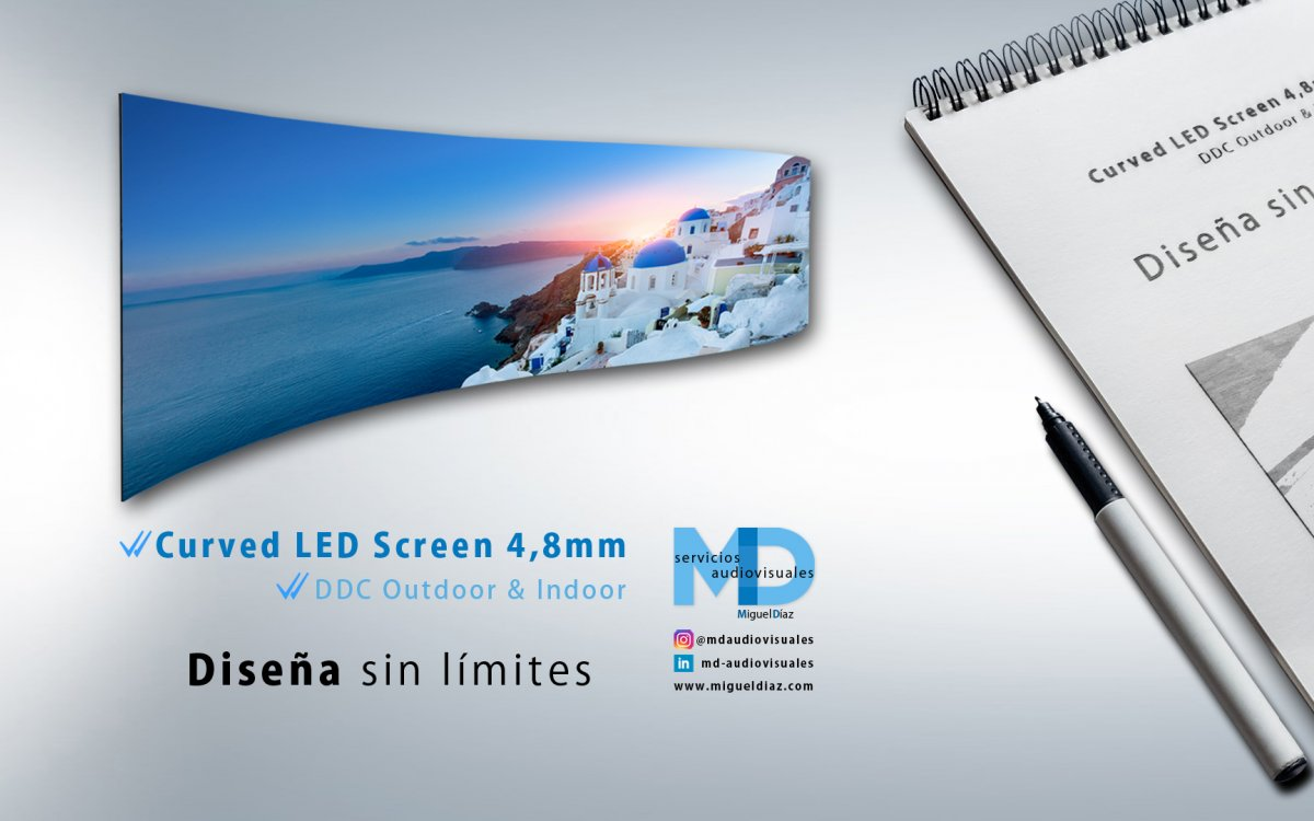 Design without limits - NEW Curved LED Screen