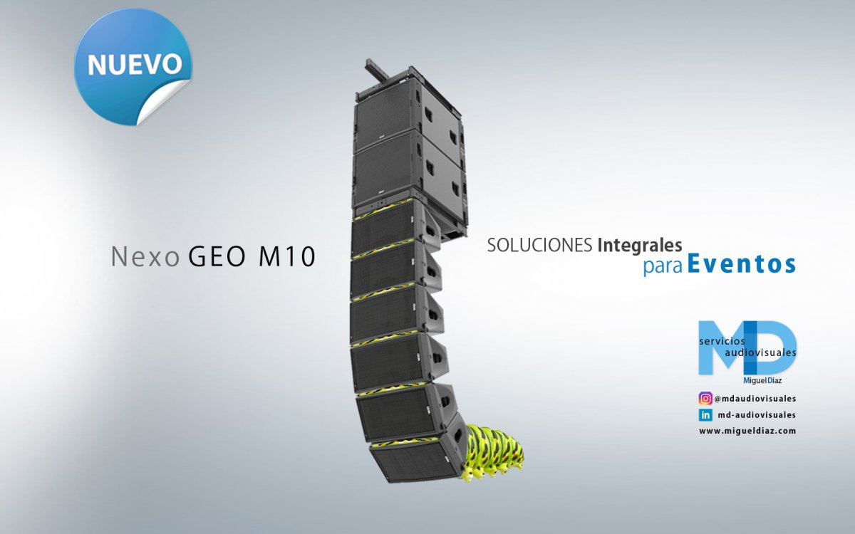 Sound equipment rental Nexo GEO M10